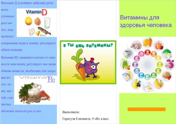 витамины для здоровья1